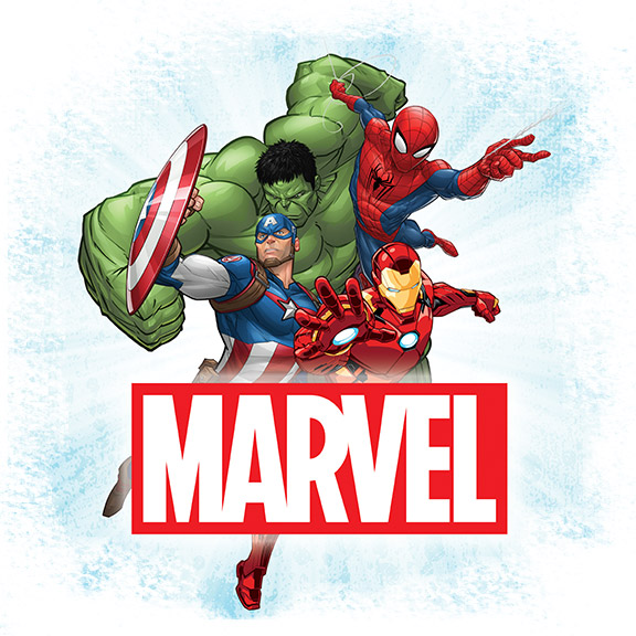 Marvel Hulk, Captain America, Iron Man, SpiderMan